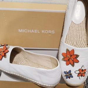 Michael Kors Leather Espadrille Flats 8.5